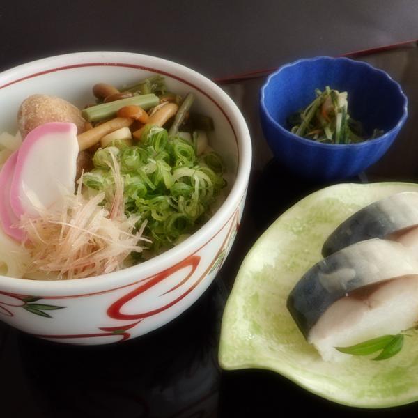 鯖寿し膳(温うどん)